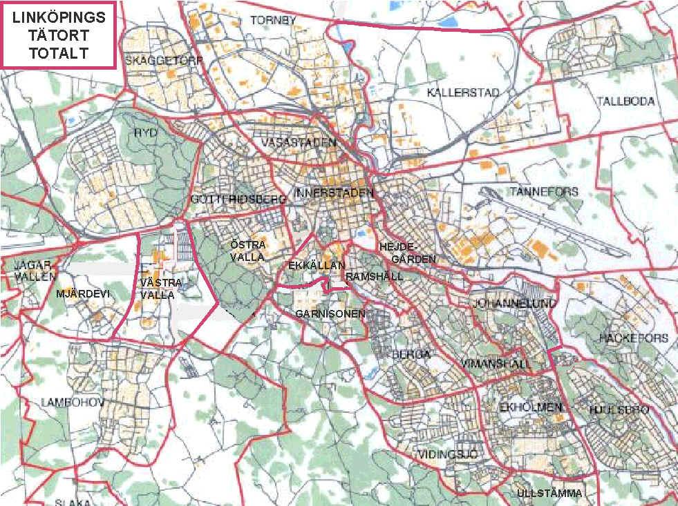 Linkopings Stadsdelar